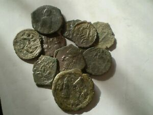 SUPERB BIG LOT OF BRONZE BYZANTINE SICILY COINS................................!
