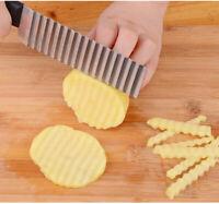 Potato Wavy Cutter Chopper Vegetable Fruit Slicer Kitchen Stainless steel knife