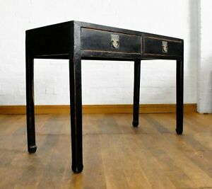 Antique style 2 drawer oriental side hall console table
