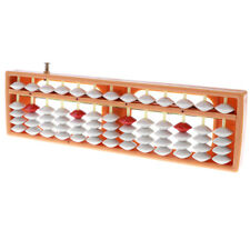 Ancient 13 Rods 5 Beads Soroban Maths Calculating Abacus Counting Aid Orange