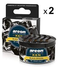 2xAir Freshener Areon KEN Black Crystal Luxury Perfume Car Home Scent Fresheners