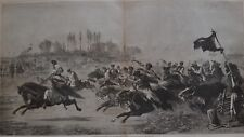 Horse Racing In Dalmatia. Harper's Weekly. 1877 Huge Engraving