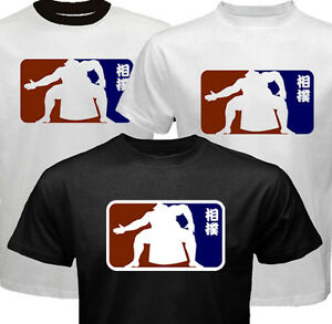 New SUMO Japan Wrestling MLB Kanji style design T-shirt