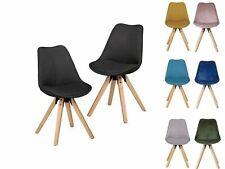 Esszimmerstuhl Stuhl Skandi 2 Stück Retro-Design Wohnling B-Ware