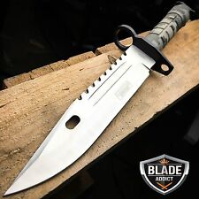 "13"" Military Survival Rambo Fixed Blade Hunting Knife Bayonet Tactical Bowie NEW"