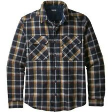 NWT Patagonia M's L/S Recycled Wool Flannel Shirt Rebel Plaid Navy Size Medium