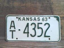 1963 Atchison County Kansas Vintage Car Tag