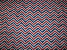 RED WHITE BLUE CHEVRON FABRIC COTTON QUILTING FABRIC FABRIC BTY NEW