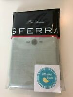 Pair SFERRA Standard Pillowcases Silversage Linen Classico Vintage Rare New