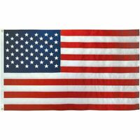 USA American Flag 3x5 Ft Embroidered Stars Sewn Stripes Brass Grommets USA Nylon