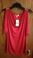 Women's Michael Kors Red Blouse Size L  $79.50