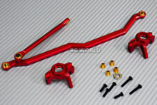 Axial Wraith, Scorpion Front ALL METAL KNUCKLES + STEERING LINK - RED