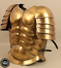ROMAN CHEST ARMOR JACKET W/SHOULDERS AND BRASS ANTIQUE FINISH BEAUTIFUL GIFT JK3