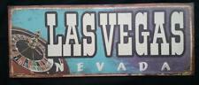 Las Vegas Nevada Metal Sign Hanging Wall Decor - Roulette - Casino - Man Cave