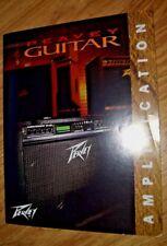 FOLLETO De Amplificador De Guitarra Peavey 1996