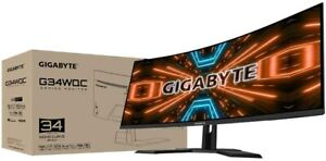 "NEW Gigabyte Gaming Monitor G34WQC-EK 34"" QHD, 3440 x 1440 pixels 1ms Freesync"