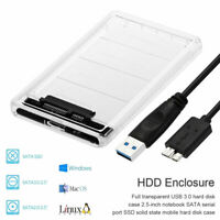 "2.5"" SATA USB 3.0 Hard Drive Disk HDD SSD Enclosure External Laptop Case"