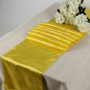 15pcs Wedding 12 X 108 inch Satin Table Runner Banquet decoration FREE SHIPPING