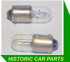 2 x 6volt 2w Peanut Bulb BA9s Panel bulbs 40-60s