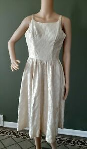 Vintage 1950's Prom Party Wedding Dress Sweetheart Ivory Handmade Prop **READ**