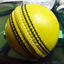 Yellow Cricket Ball - Leather Entirely Hand Stitched, 5.5oz For 50 Overs