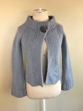 Cynthia Steffe Women's Gray Chunky Cardigan Sweater Big Button Open Front Size S