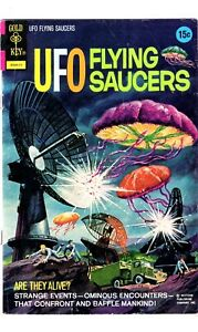 GOLD KEY Collectible Comic Book UFO FLYING SAUCERS # 3 1972-NR!!!