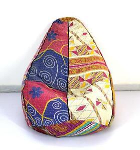 Handmade Vintage Cotton Floral Bohemian Bean Bag Chair Pouf Floor Pillow Ottoman