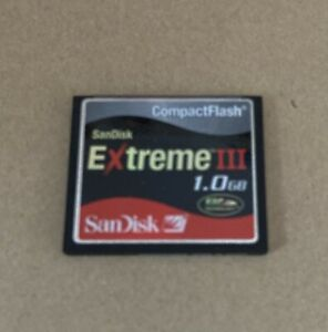 Sandisk Extreme III 1GB Compact Flash CF memory card
