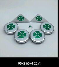 Set 7pcs badge coprimozzo Alfa Romeo 156 166 Giulietta Mito quadrifoglio verde