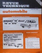 NEUF Revue technique RENAULT 18 diesel TD GTD R 1344 R 1354 RTA 415 1981 + OPEL