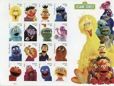 USA 2019 MNH Sesame Street Bert Ernie Big Bird Grover 16v S/A M/S TV Stamps