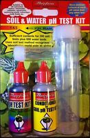 Flairform Soil & Water pH Test Kit Freshwater Saltwater Hydroponics 800 Tests