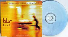 BLUR CD LIVE 6 Tracks Exclusive from Utrecht DUTCH Only MOR Popscene Song 2 NEW