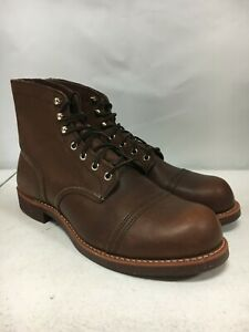 NEW W DEFECTS REDWING MENS IRON RANGER 8111 AMBER SIZE 11.5 FREE SHIP