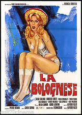 LA BOLOGNESE MANIFESTO CINEMA FILM EROTICO SEXY ART AVELLI 1975 MOVIE POSTER 2F