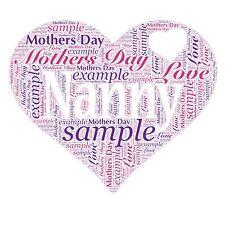 Mummy MUM Nanny Nan Birthday Mothers Day Gift Present Personalised A4