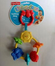 Fisher Price Link-a-doos Baby Toy Teething Ring Take Along New Birth Texture Sun