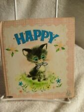 HAPPY by Marion Borden Whitman Tell-a-Tale Vintage Children's Book 1964 1st Ed
