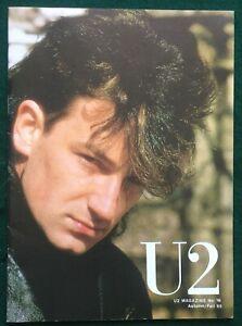 U2 ~ Magazine #16. UK 1985 Pre-Propaganda Fan Club 16-page Magazine
