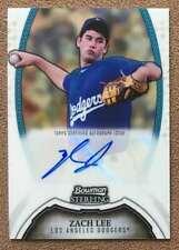 Zach Lee 2011 Bowman Sterling Prospect Autograph #BSP-ZL Los Angeles Angels RC