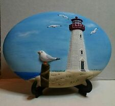 DONA'S INSERT LIGHT HOUSE CERAMIC BISQUE  READY TO PAINT