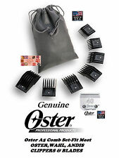 OSTER A5/A6 GUIDE ATTACHMENT 7pc COMB SET& 40 BLADE*Fit Most Wahl,Andis Clipper