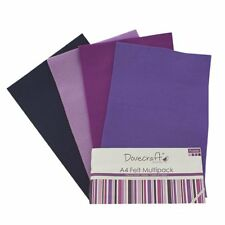Pack of 8 Sheets Dovecraft A4 Felt Multiple Pack Arts & Crafts Decorative Papers