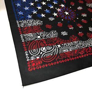 "22"" Black Flag Bandana, Hav-a-Hank Bandanna, Hankie Handkerchief, Made in USA"