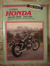 CLYMER HONDA 450 TWINS 1978 1987 SERVICE REPAIR MAINTENANCE Motorcycle Manual