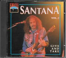 "SANTANA - RARO CD ITALY ONLY 1993 "" GIVE AND TAKE VOL.2 """