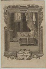 edle TASCHENUHR Original Ornament Kupferstich um 1750 Rollwerk Kunst Uhrmacher