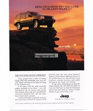 1996 Jeep GRAND CHEROKEE 4x4 in Rocky Mountains Vtg Print Ad