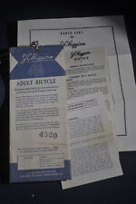 JC Higgins Bicycle Parts List & Assembly Instructions-SEARS 'Komet Super Coaster